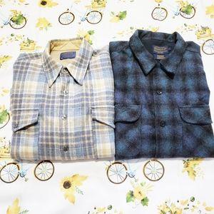 Vintage Virgin wool pendleton flannel shirt bundle